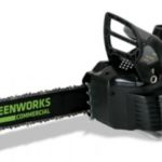 greenworks lithium-ion battery powered chainsaw