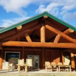 natural cedar ready seal stain on pine log home