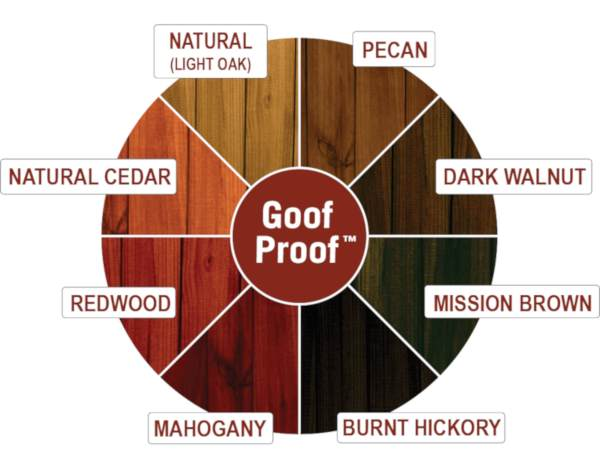 ready seal wood stain & sealant colour wheel