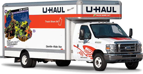 u-haul 20 foot family mover 3 bedroom home rental moving truck