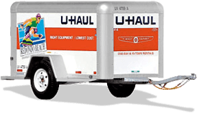 u-haul 4 foot by 8 foot enclosed trailer rental