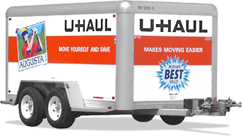 u-haul 6 foot by 12 foot enclosed trailer rental