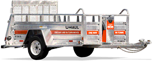 u-haul open 5 foot by 9 foot trailer with ramp