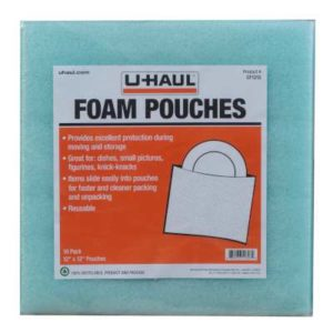 cushion foam pouches 12 inch by 12 inch for moving