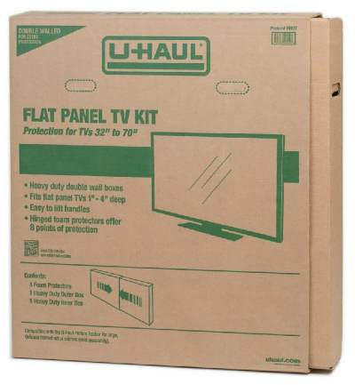 flat panel tv box for moving protection