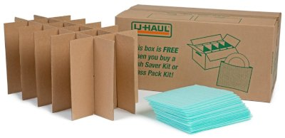 uhaul glass saver kit for packing glassware and breakables