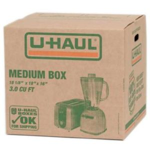 medium sized u-haul box