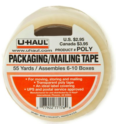 two rolls of packaging and mailing tape
