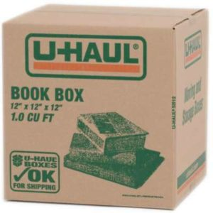 u-haul book box 12 inch by 12 inch by 12 inch