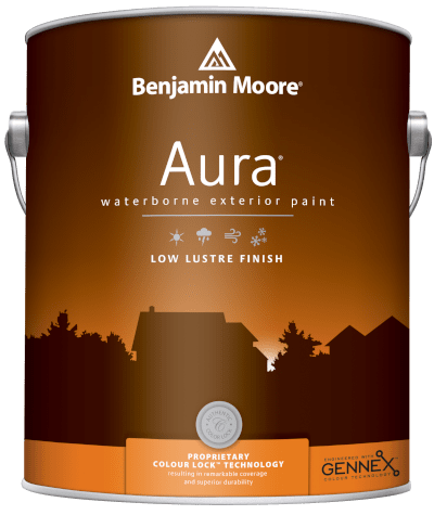 benjamin moore aura exterior low lustre finish paint can