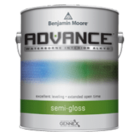 benjamin moore advance semi-gloss finish paint can