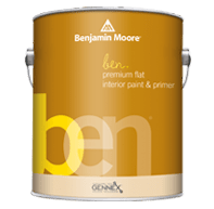 benjamin moore ben interior flat paint can