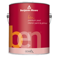 benjamin moore ben pearl finish paint can