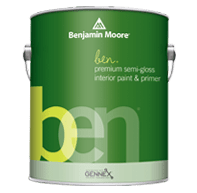 benjamin moore ben semi-gloss paint can