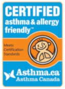seal of certification from asthma canada certified asthma & allergy friendly