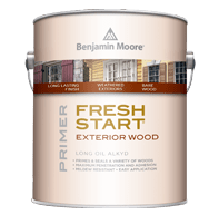 benjamin moore fresh start moorwhite exterior wood primer can
