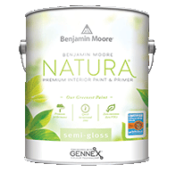 benjamin moore natura semi-gloss finish paint can