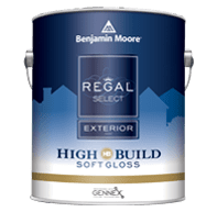 benjamin moore regal select exterior soft gloss finish paint can