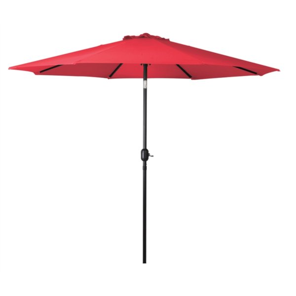 seasonal trends crank umbrella red coloured