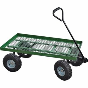 600 pound capacity flat bed mesh garden cart