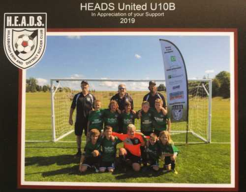 heads united b soccer team sponsorship