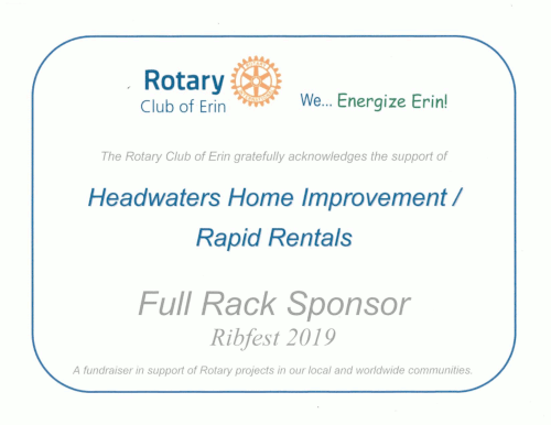 rotary club 2019 certificate of appreciation