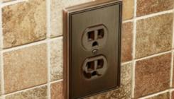 wall electrical socket and plate