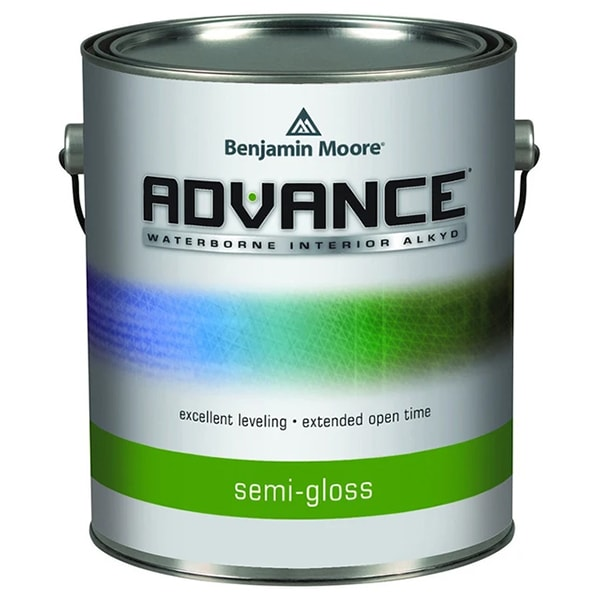 benjamin moore advance semi-gloss paint can