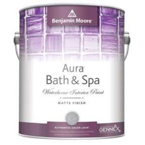 benjamin moore aura bath and spa paint can