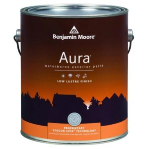 benjamin moore exterior low lustre sheen paint can