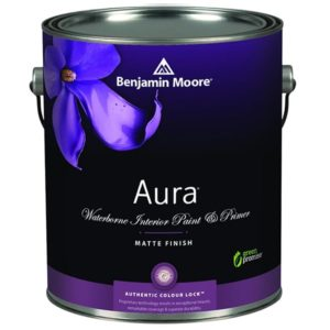 benjamin moore aura matte finish paint can