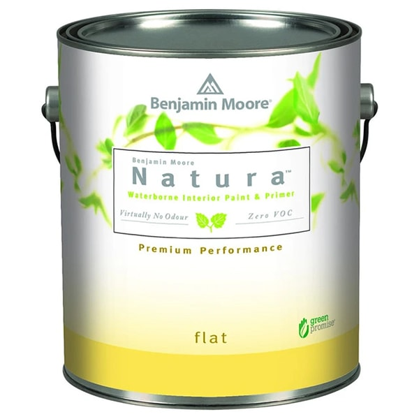 benjamin moore natura flat sheen paint can