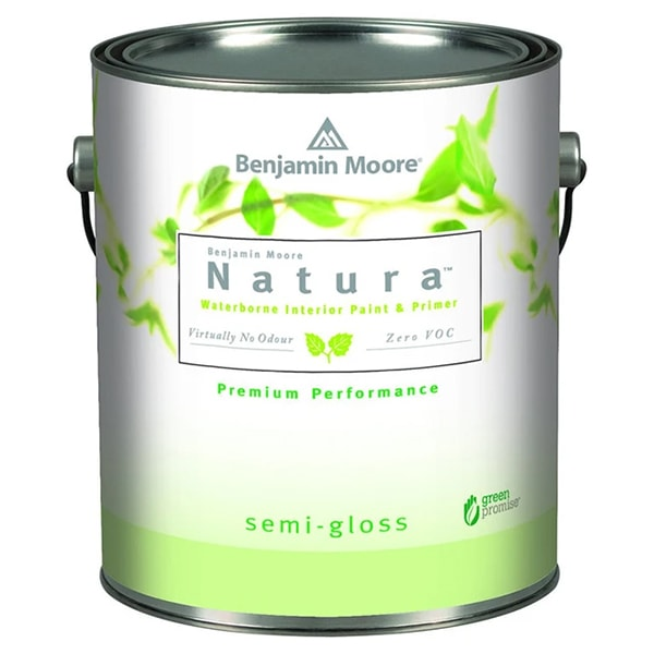 benjamin moore natura semi-gloss sheen paint can