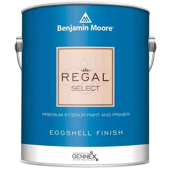 benjamin moore regal eggshell sheen finish paint can