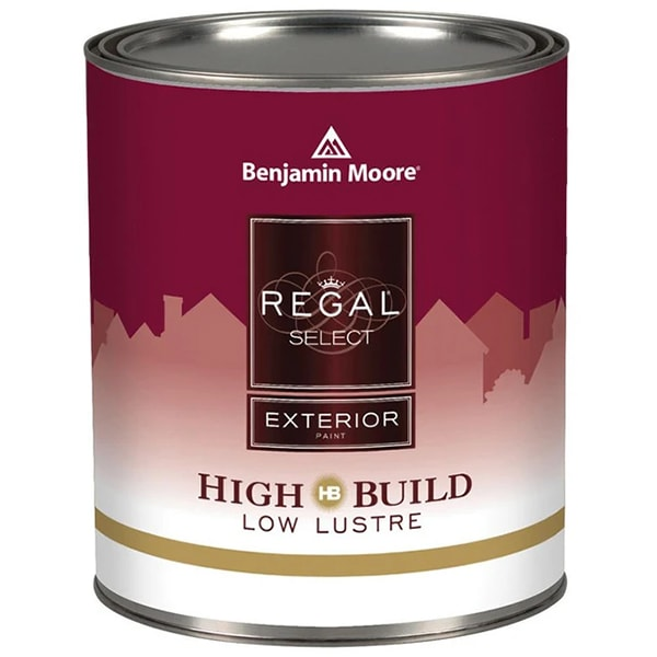 benjamin moore regal low-lustre sheen exterior paint can