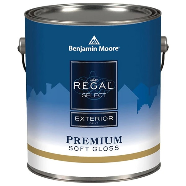 benjamin moore regal exterior soft gloss paint can