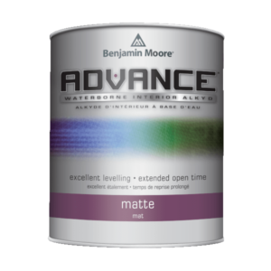 benjamin moore advance matte finish paint can