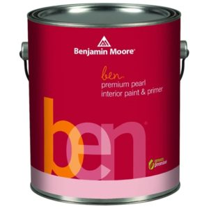 benjamin moore ben interior pearl finish paint can