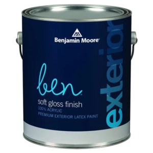 benjamin moore ben soft-gloss finish paint can