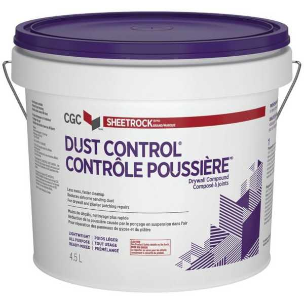 cgc dust control drywall compound 4.5 litre