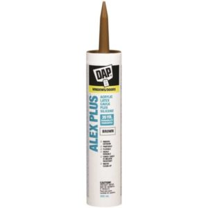 dap alex plus acrylic brown caulking