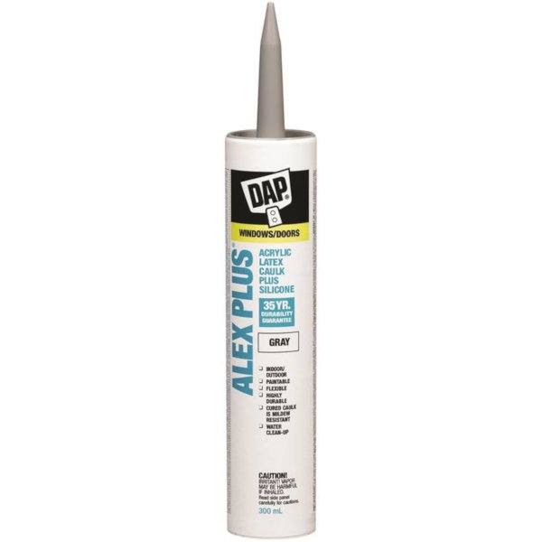dap alex plus gray acrylic caulking