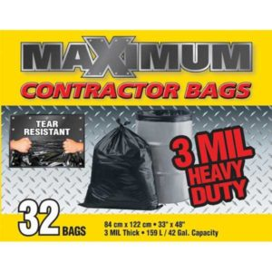 maximum contractor garbage bags