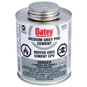 oatey pvc pipe cement