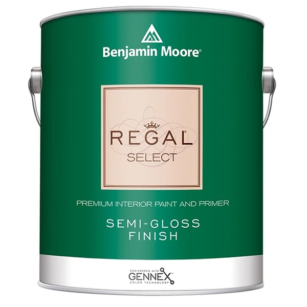 benjamin moore regal semi-gloss sheen paint can