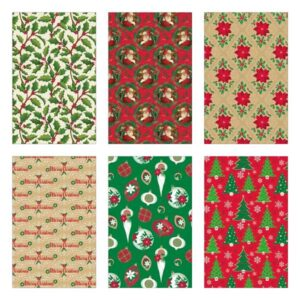 assorted styles of christmas wrapping paper