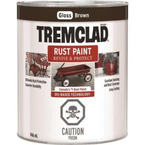 tremclad brown gloss quart can