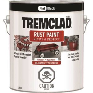 tremclad rust paint flat black