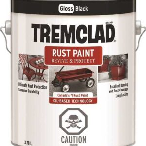 tremclad gloss black gallon paint can