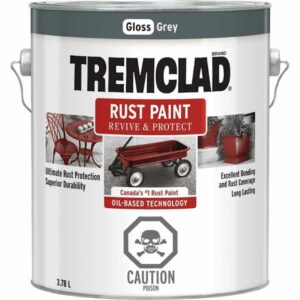 tremclad rust paint grey gloss